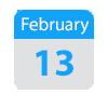Feb 13 calendar icon