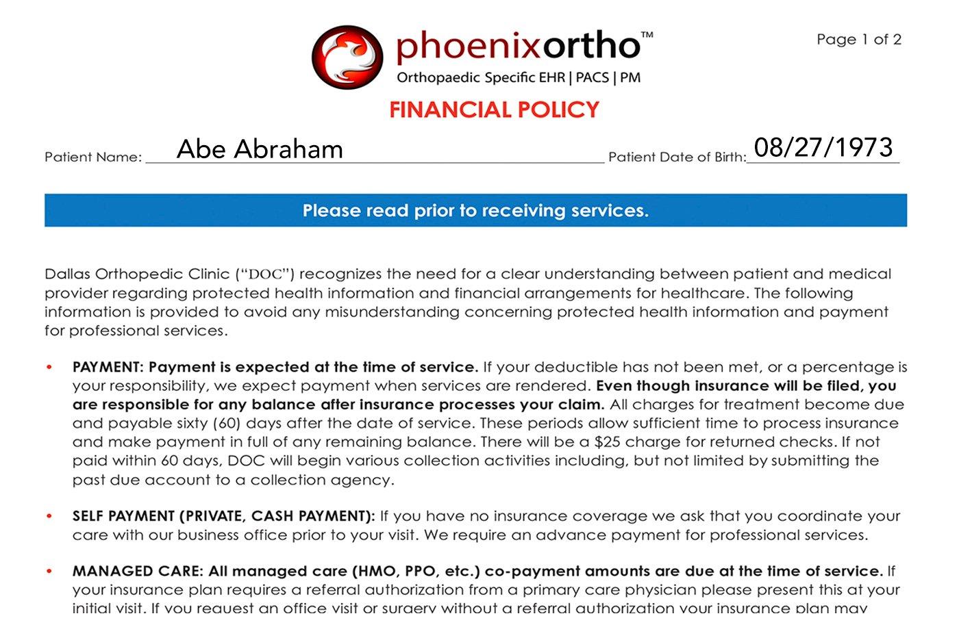 kiosk LP screenshots financial policy Abe