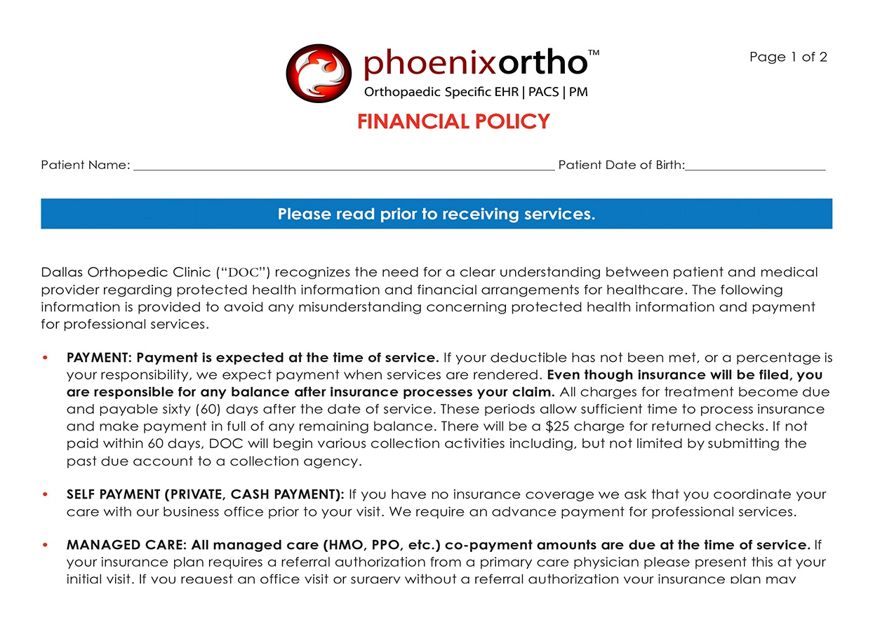 kiosk LP screenshots financial policy