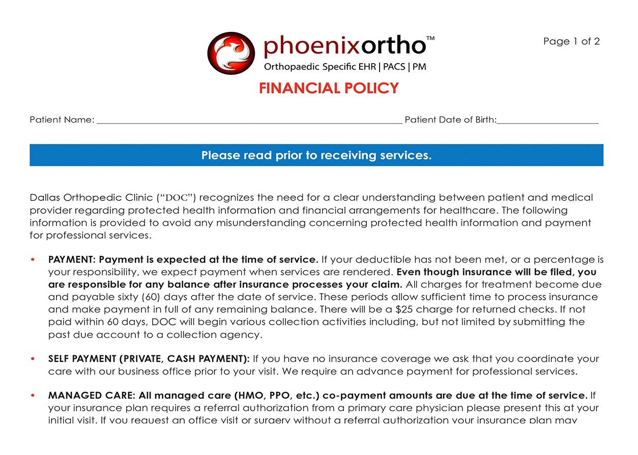kiosk LP screenshots financial policy