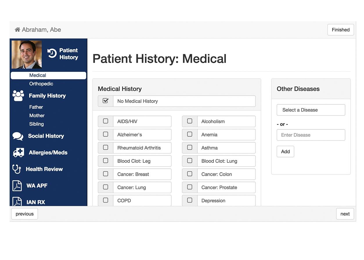 kiosk LP screenshots patient history